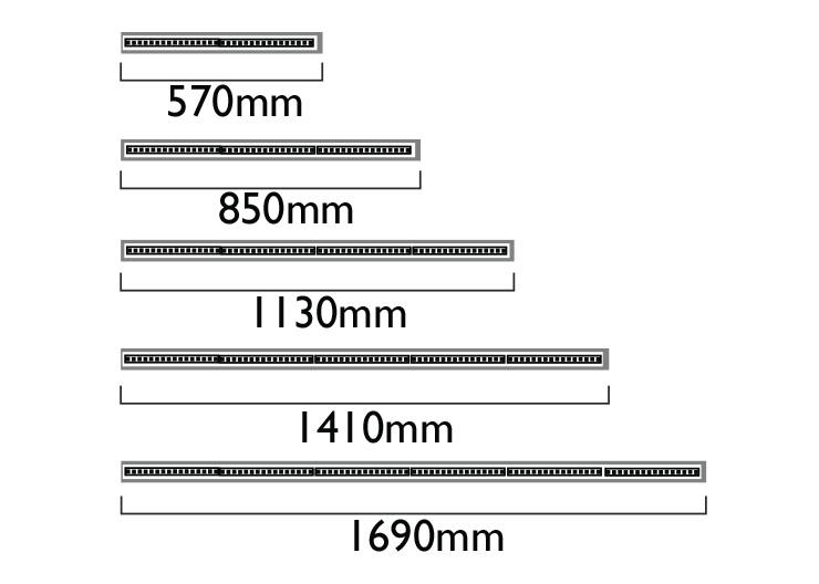 Lengths - Muliple of 282mm LED boards